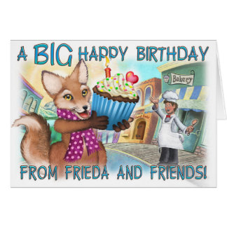 Frieda Schwanz-Geburtstags-Karte Karte