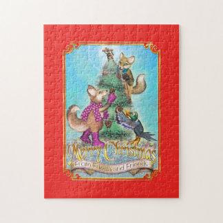 Frieda Schwanz-Weihnachtspuzzlespiel - der Baum