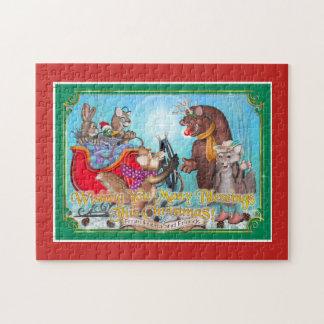 Frieda Schwanz-Weihnachtspuzzlespiel - der Sleigh