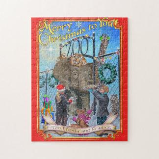 Frieda Schwanz-Weihnachtspuzzlespiel - der Zoo