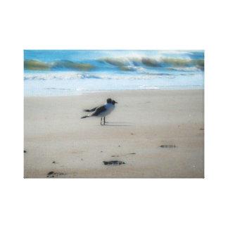 Frieden am Strand Leinwanddruck
