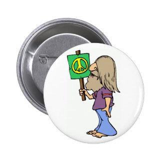 Buttons mit Hippie-Designs bei Zazzle