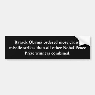 Frieden durch Obama Autoaufkleber