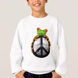 Frieden frog1 sweatshirt