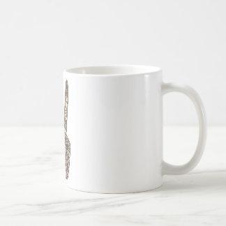 """""""Frieden heraus"""" entwerfen Kaffeetasse"""
