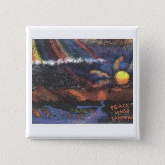 Frieden II Quadratischer Button 5,1 Cm