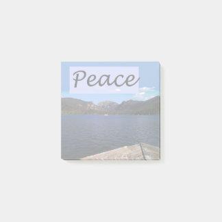Frieden in dem See Post-it Klebezettel
