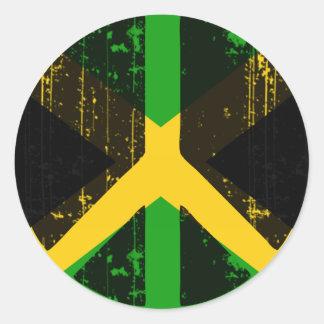 Frieden in Jamaika Runder Aufkleber