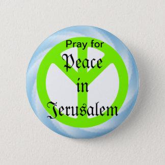 Frieden in Jerusalem-Knopf Runder Button 5,7 Cm