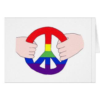 Frieden ist in unseren Händen Karte