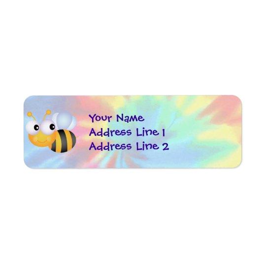 Frieden, Liebe, Bienen Rücksende Aufkleber