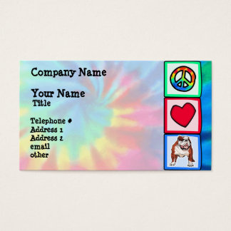 Frieden, Liebe, Bulldoggen Visitenkarte