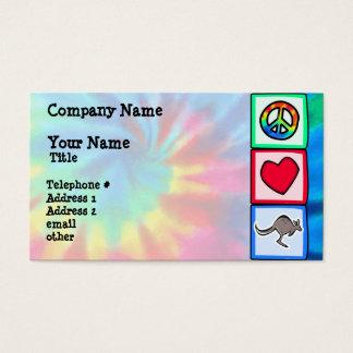 Frieden, Liebe, Kängurus Visitenkarten