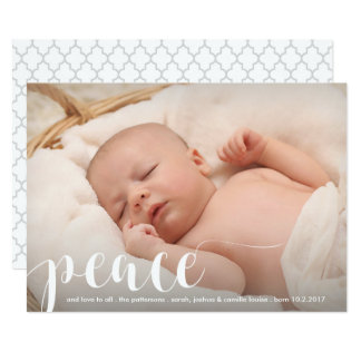 Frieden, Liebe-modernes klassisches 12,7 X 17,8 Cm Einladungskarte