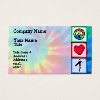 Frieden, Liebe, Surfer-Mädchen Visitenkarte