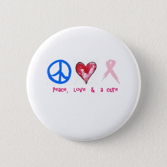 Frieden, Liebe u. eine Heilung Runder Button 5,7 Cm