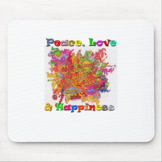 Frieden, Liebe u. Glück Mousepads