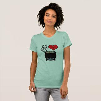 Frieden, Liebe u. Gumbo-T - Shirt