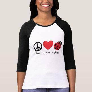 Frieden, Liebe u. Marienkäfer T-Shirt