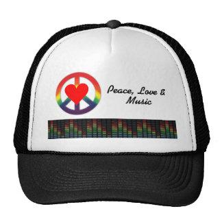 Frieden, Liebe u. Musik Mützen