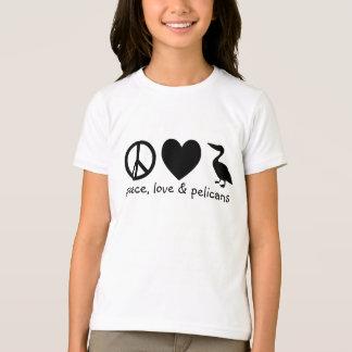 Frieden, Liebe u. Pelikan-T - Shirt