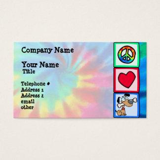 Frieden, Liebe, Welpen-Hunde Visitenkarten