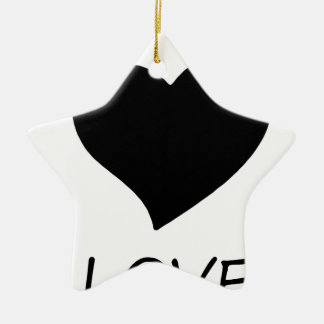 Frieden love18 keramik ornament