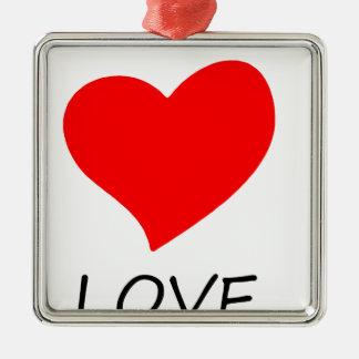 Frieden love3 silbernes ornament