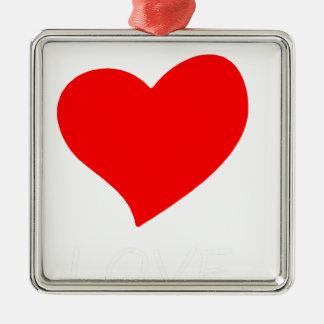 Frieden love4 silbernes ornament
