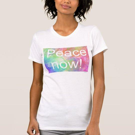 Frieden now2! Amerikanischer T-Shirt