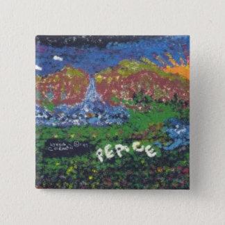 Frieden Quadratischer Button 5,1 Cm
