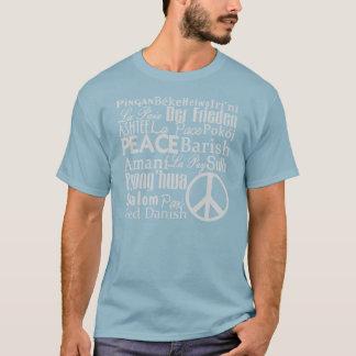 FRIEDEN sagte auf der ganzen Welt T-Stück T-Shirt