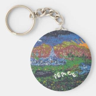 Frieden Standard Runder Schlüsselanhänger