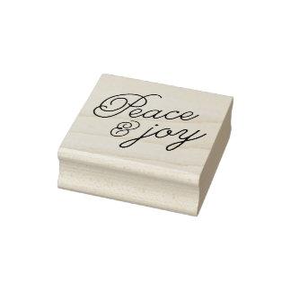Frieden u. Freude Gummistempel
