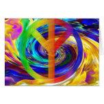 Frieden u. Harmony_ Grußkarte