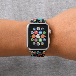 Frieden u. Leute-Power durch Aleta Apple Watch Armband