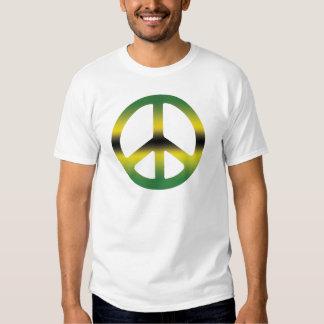 Frieden und Liebe jamaikanisches CND. Machen Sie T-shirts