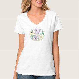 Frieden und Liebe und Regenbogen T-Shirt