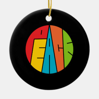 Frieden - Wort-Kunst Keramik Ornament