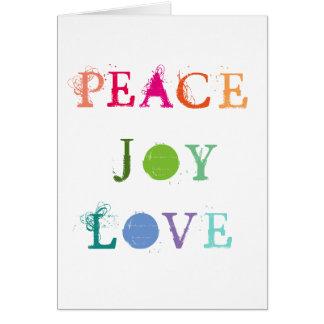 Friedens-, Freude-und Karte