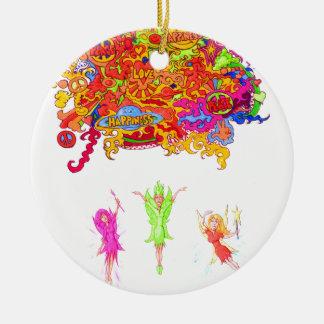 Friedens-, Liebe-und Glück-Feen Keramik Ornament