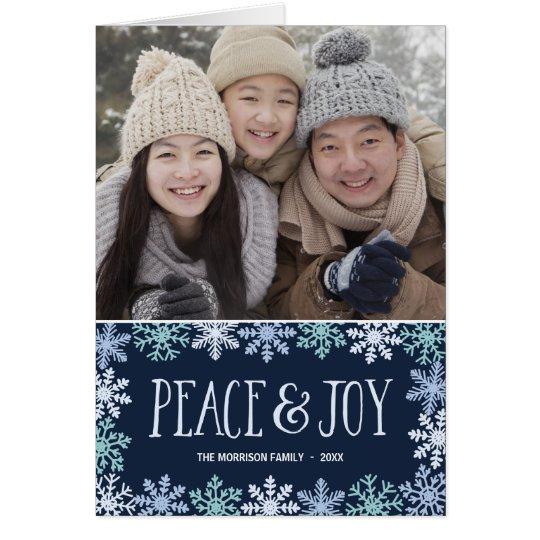 Friedens-u. der Freude-| moderne gefaltete Grußkarte