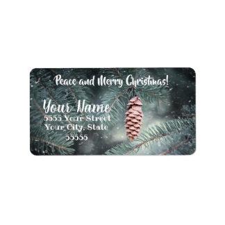 Friedens-und frohe Weihnacht-Adressen-Etiketten Adressaufkleber