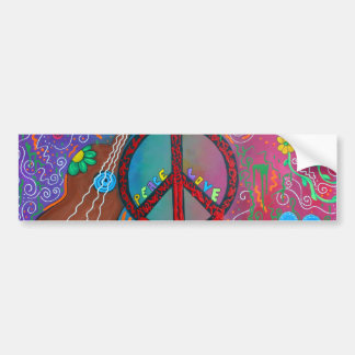 Friedens-und Liebe-Autoaufkleber Autoaufkleber