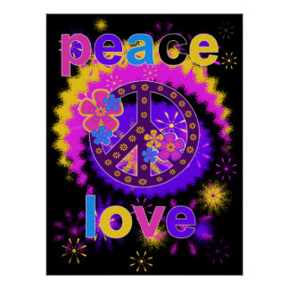 Friedens-und Liebe-Plakat