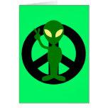 Friedensalien Grußkarte