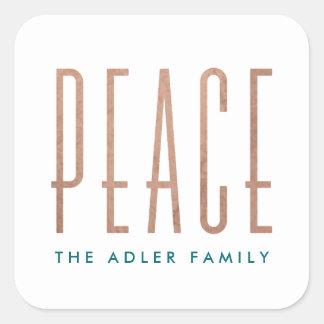 Friedensfeiertags-Aufkleber Quadratischer Aufkleber