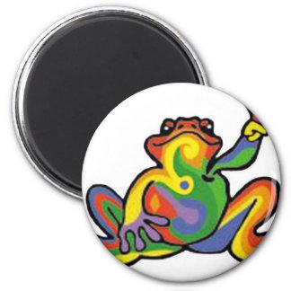 Friedensfrosch Runder Magnet 5,1 Cm
