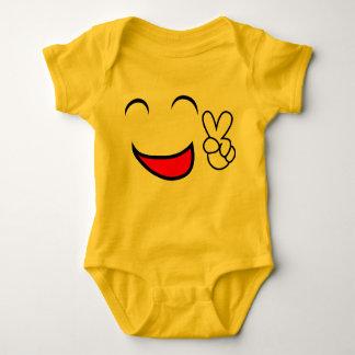 Friedensheraus Emoticon-Baby-Kostüm Baby Strampler