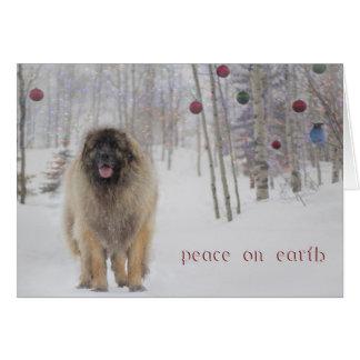 FriedensLeonberger Weihnachtskarte Karte